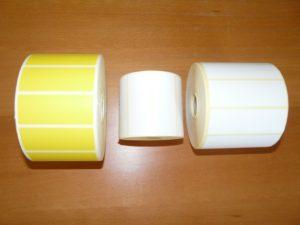 Étiquettes bobines propylène