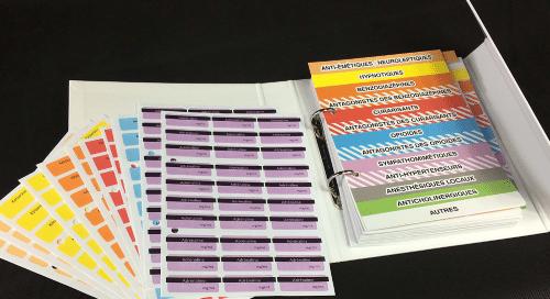 Classeur étiquettes pour Service d'Urgence, SAMU, SMUR...