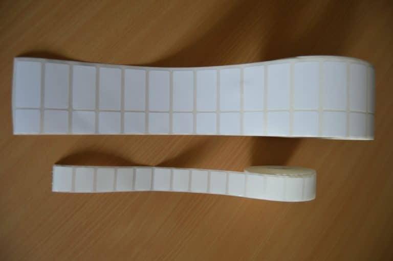 Exemple d'étiquettes en bobine LAME