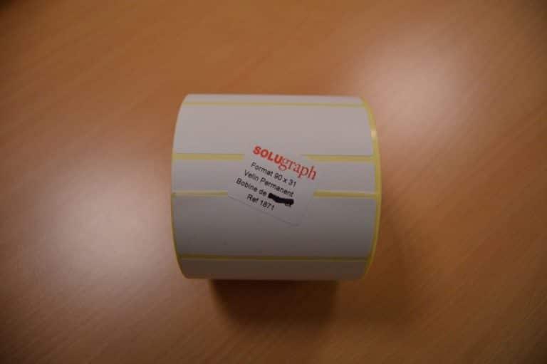 Étiquettes bobine Velin permanent