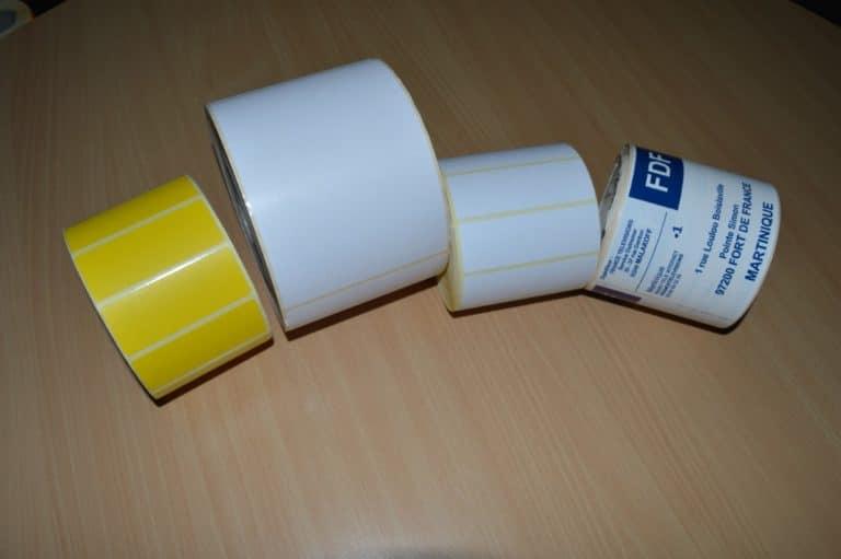 Étiquettes bobine pour imprimantes