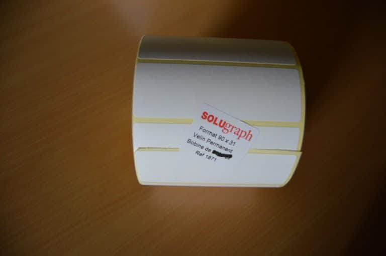 Étiquettes bobine pour imprimantes format 90x31 mm