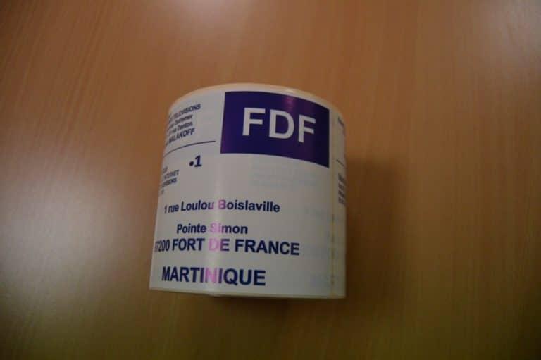 Étiquettes bobines imprimés