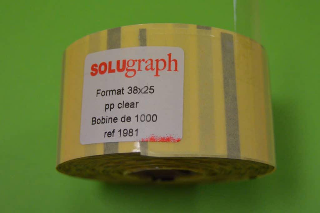 Étiquettes en bobine bio transparentes