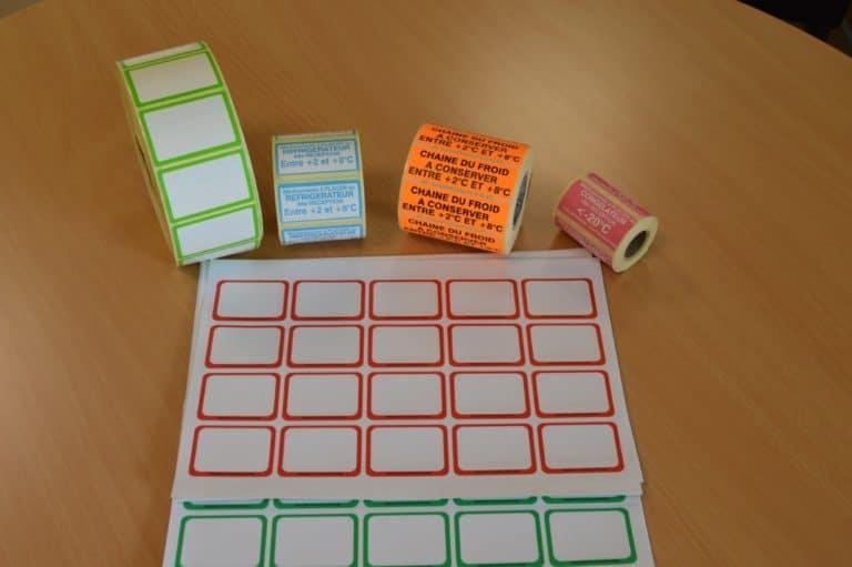 Exemples d'étiquettes pour la pharmacie