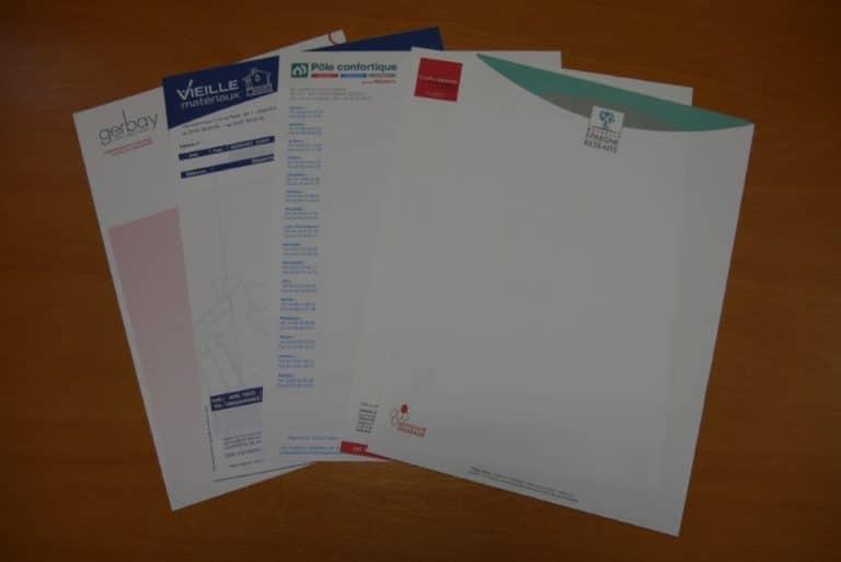 Imprimés tête de lettre
